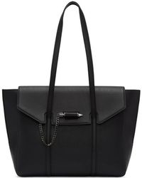 Mackage - Barton Fold-over Flap Tote In Black - Lyst