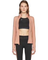 adidas By Stella McCartney - Pink Essentials Midlayer Zip-up Jacket - Lyst