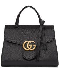 Gucci - Black Mini Gg Marmont Bag - Lyst