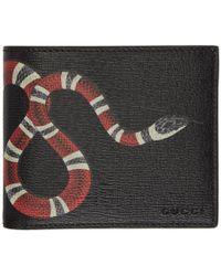 Gucci - Black Snake GG Wallet - Lyst