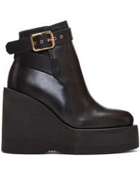 Sacai - Black Wedge Boots - Lyst