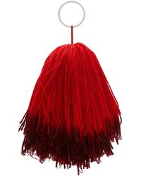 CALVIN KLEIN 205W39NYC - Red And Purple Pom Pom Keychain - Lyst