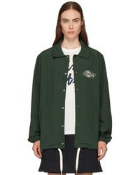 Maison Kitsuné - Green Plain Bertil Windbreaker Jacket - Lyst