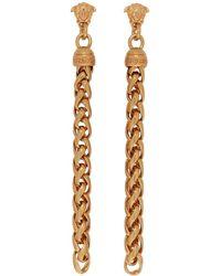 Versace - Chain Drop Earrings - Lyst