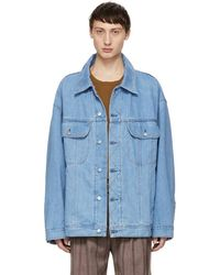 Acne Studios Blue Bla Konst Denim Oversized Jacket