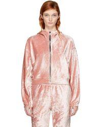Nike - Pink Velour Essentials Hoodie - Lyst