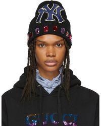 Gucci - Black Ny Yankees Edition Wool Beanie - Lyst