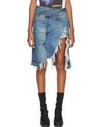 R13 - Blue Denim Norbury Skirt - Lyst