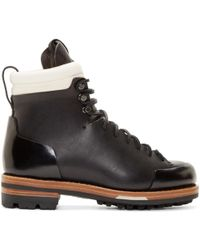 Feit - Black Leather Arctic Hiker Boots - Lyst