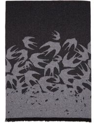 McQ - Black Swallow Degrade Scarf - Lyst