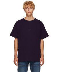 Acne Studios - Oversized Logo-print Garment-dyed Cotton-jersey T-shirt - Lyst