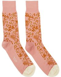 Paul Smith - Pink Japanese Floral Socks - Lyst