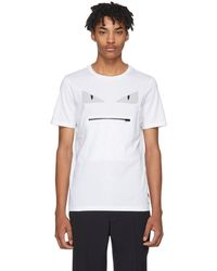 Fendi | White Bag Bugs Zip Mouth T-shirt | Lyst