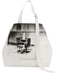 CALVIN KLEIN 205W39NYC - White Oversized Electric Chair Tote - Lyst