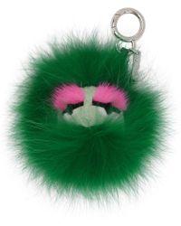 Fendi - Green Fur Bag Bugs Keychain - Lyst