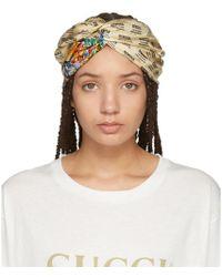 Gucci - Ivory Logo Stamp Headband - Lyst