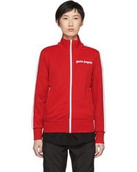 Palm Angels - Red And White Classic Track Jacket - Lyst