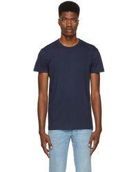 Naked & Famous - Blue Ringspun Cotton T-shirt - Lyst