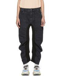 Stella McCartney - Black Ruched Jeans - Lyst