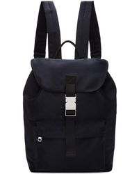 A.P.C. - Navy Satin Maxence Backpack - Lyst