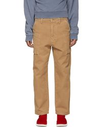 Acne | Brown Anselm Trousers | Lyst
