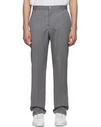 Thom Browne - Grey Chino Stripe Unconstructed Trousers - Lyst