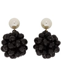 Marc Jacobs - Black Pearl Crystal Ball Drop Earrings - Lyst