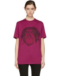 Givenchy - Pink Rottweiler T-shirt - Lyst