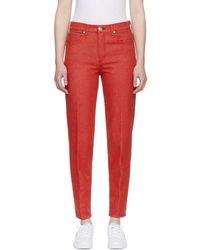 Rag & Bone - Red Ash Jeans - Lyst