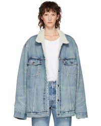 Levi's - Blue Big And Tall Type 3 Sherpa Trucker Jacket - Lyst
