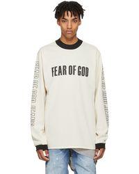Fear Of God - Beige Long Sleeve Mesh Motorcross T-shirt - Lyst