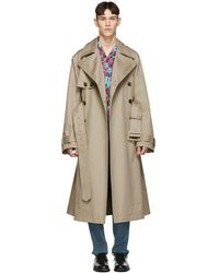 Valentino - Beige Oversized Trench Coat - Lyst