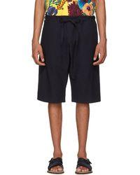 Paul Smith - Navy Tie Waist Shorts - Lyst