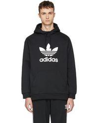 adidas Originals - Black Trefoil Warm-up Hoodie - Lyst