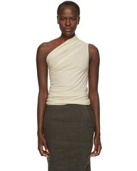 Rick Owens - Off-white One Shoulder Tank Top - Lyst