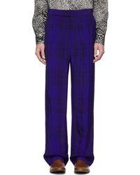 Haider Ackermann - Blue Elastic Waistband Trousers - Lyst