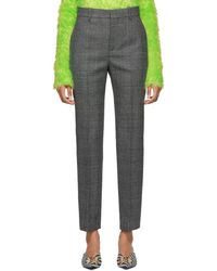 Balenciaga - Black And White Houndstooth Carrot Trousers - Lyst