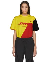 Vetements - Yellow And Red Zurich Cut-up T-shirt - Lyst
