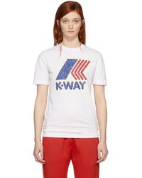 DSquared² - White K-way Edition T-shirt - Lyst
