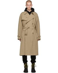 Vetements - Trench beige New Classic - Lyst