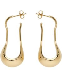 Lemaire - Gold Short Drop Earrings - Lyst