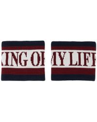 Dolce & Gabbana - Red And Blue King Of My Life Cuffs - Lyst