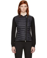 Moncler - Black Quilted Panel Jacket - Lyst