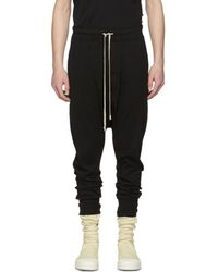 Cheap Sale Fake 2018 For Sale Black Cropped Drawstring Lounge Pants Rick Owens Low Price For Sale 100% Guaranteed For Sale WxOrb0ZC