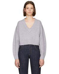 3.1 Phillip Lim - Purple Lofty V-neck Sweater - Lyst