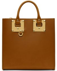 Sophie Hulme | Tan Square Albion Tote | Lyst