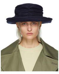 Y's Yohji Yamamoto - Navy Gather Cloche Hat - Lyst