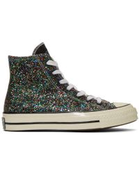 55fadd692c57 JW Anderson - Black And White Converse Edition Glitter Chuck 70 High  Sneakers - Lyst