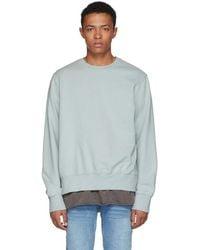 Ksubi - Green Seeing Lines Crewneck Sweatshirt - Lyst