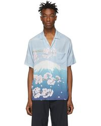 Blue Blue Japan - Blue Mt. Fuji And Sakura Shirt - Lyst